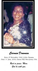 Death Of Carmen Dowman Mother From Visual Artist Darrell Black
